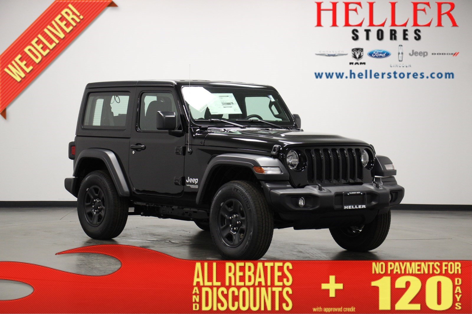 New 2020 Jeep Wrangler Sport Suv In Pontiac J20092 Heller Motors
