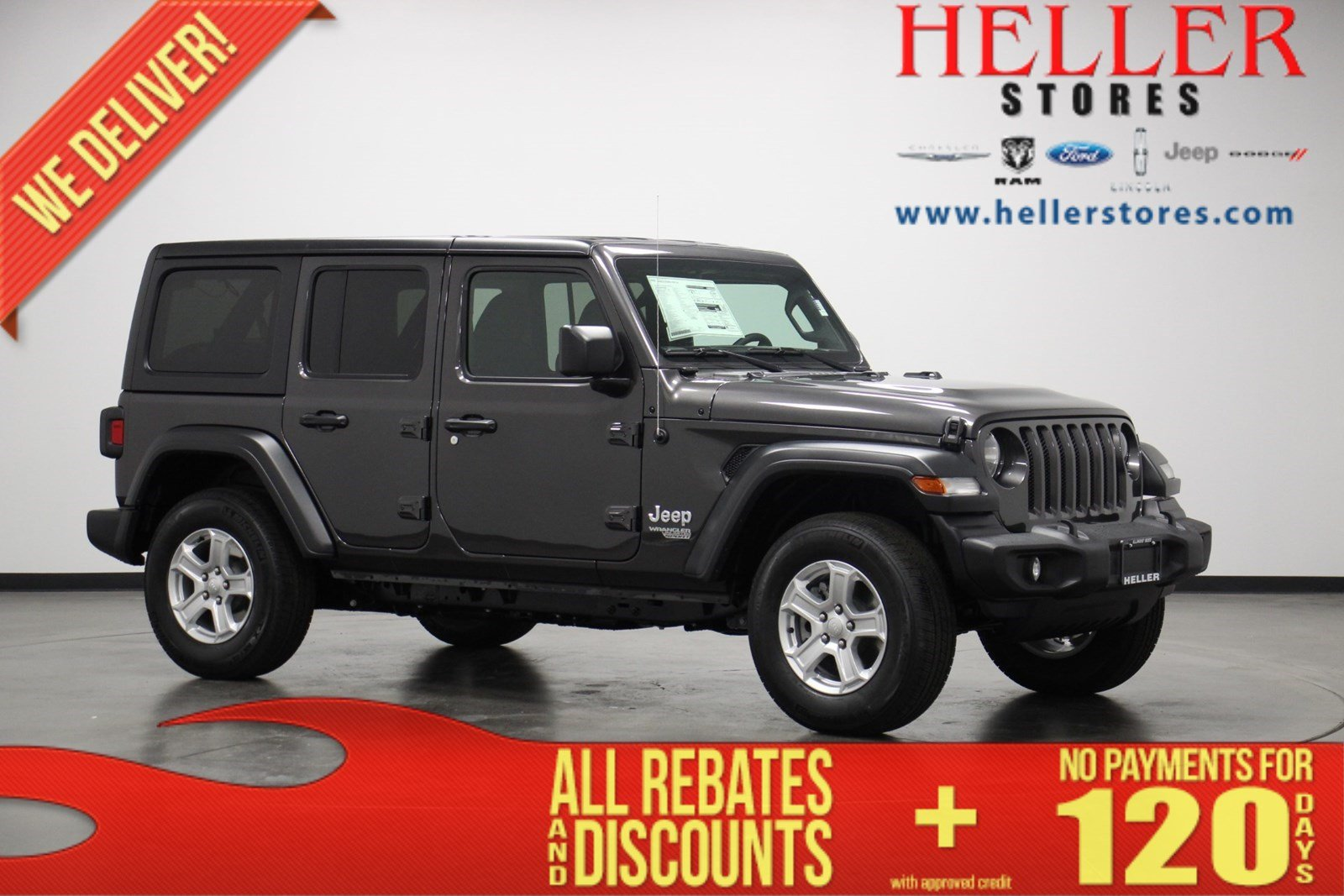 New 2020 Jeep Wrangler Unlimited Sport S Suv In Pontiac J20044